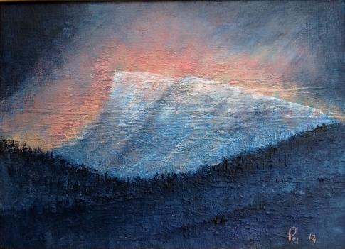 Nibba i fyr og flamme - 33x24, akryl