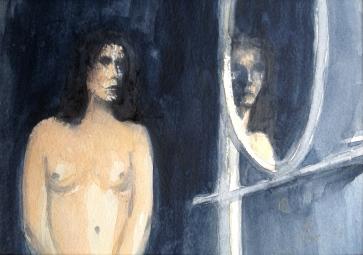 Lille speil på veggen der - 24x18