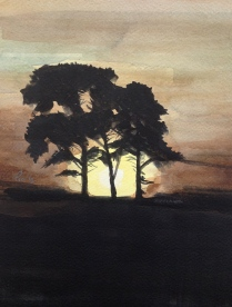 Baklysets magi - 21x30, akvarell