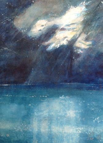 Vannspeiling - 21x30, akvarell