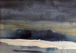 Trær i frost! - 24x18, akvarell