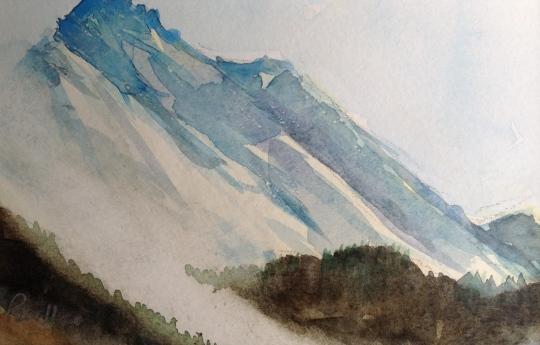Gimsdalstinden - 20x15, akvarell