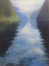 Kjølvann - 89 x 116, akryl