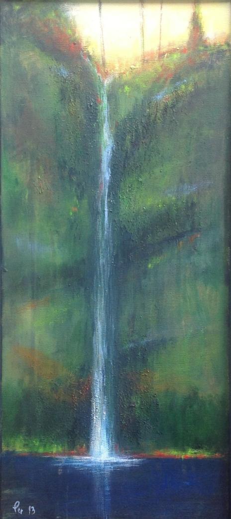 Magi i rennende vann - 27 x 67, akryl