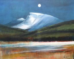 Nocturne, akryl 61x50 cm