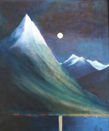 Sunnmørspyramide par exellence - Straumshorn! akryl, 46x55 cm